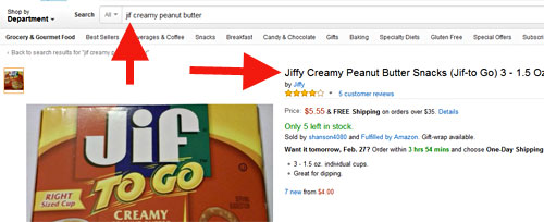Jif leads to Jiffy at Amazon