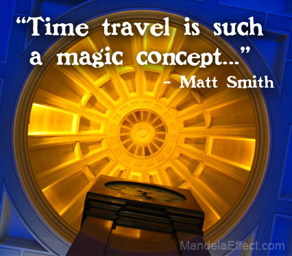 Matt Smith quote about time travel
